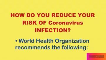 How to reduce risk of infection of the Novel Coronavirus